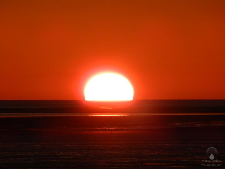 #Sonnenuntergang Nordseeküste