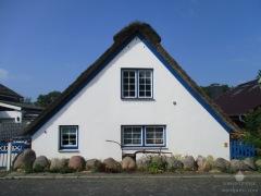 Historisches Friesenhaus in Bremerhaven-Weddewarden.