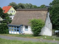 Reetdachhaus am alten Seedeich in Weddewarden.