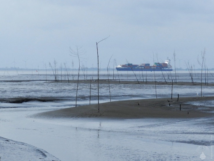 Priel Wattenmeer Pricken