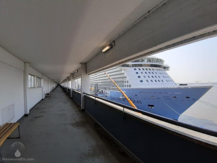 Besucherterasse Besuchergalerie Bremerhaven Kreuzfahrtschiffe