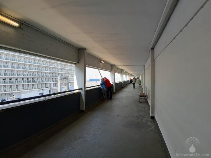 Kreuzfahrtschiffe Besucher Terasse Balkon Bremerhaven