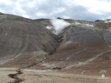 Osthang des Namfjall mit aktiven Fumarolen.