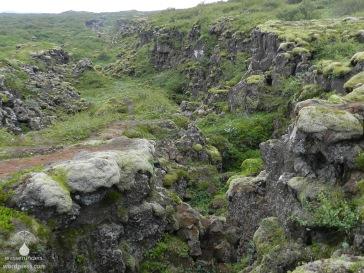 Thinvellir Kontinente Spalte Island