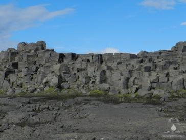 Basaltsäulen nahe des Dettifoss.