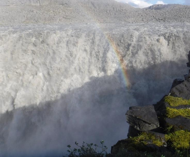 Rainbow Dettifoss Iceland.