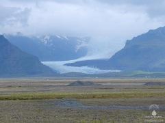 Die wilde Gletscherzunge des Svínafellsjökull.