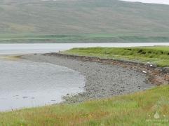 Unsere Landzunge am Hrutafjord. Leider war das lange Warten vergebens.