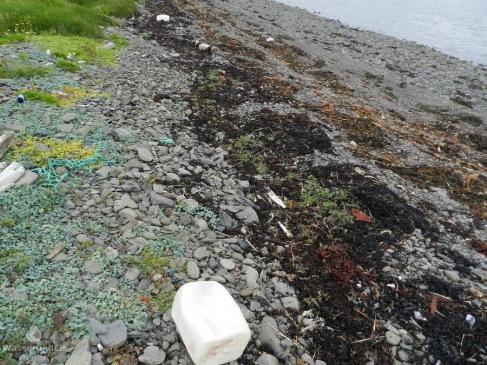 Leider ist auch der Strandabschnitt am Hrutafjord voller Plastikmüll. Überwiegend aus der Fischerei.