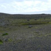 Moränengelände vor dem Fjallsárlón. Der Gletscher war einst viel größer.