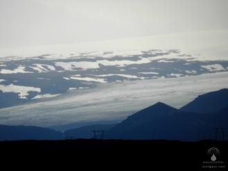 Gletscherzunge des Eystri Hagafellsjökullam Langjökull.