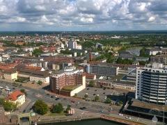 Blick nach Nordosten in Richtung Bremerhaven-Lehe.