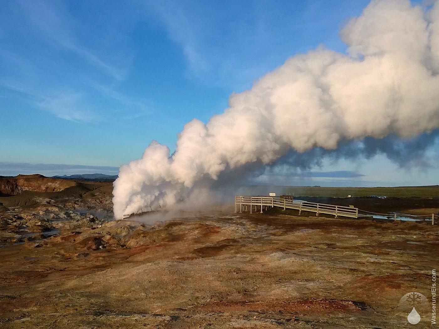 Reykjanes heiße Quelle Gunnuhver