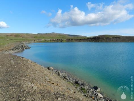Grænavatn See Krater Farbe