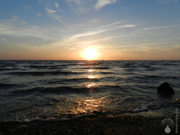 Sonnenuntergang Nordsee Wurster Nordseeküste