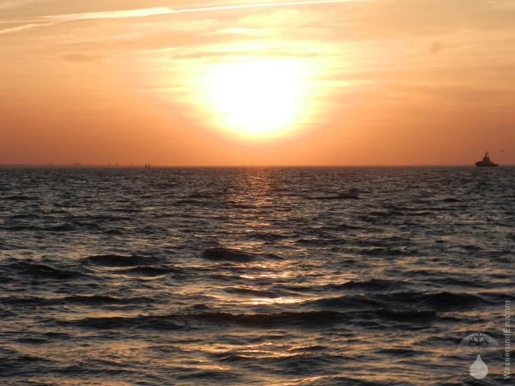 Sonnenuntergang Moorbrand Nordsee