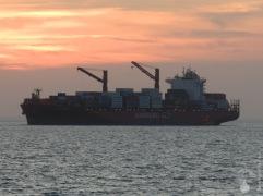 Containerschiff Bremerhaven Hafen