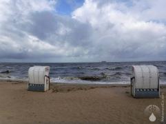 Cuxhaven Döse Strandkörbe Sturmflut