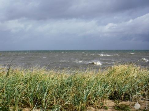 Sturmflut Gischt Wellen Döse Strand