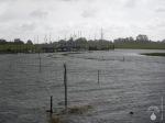 Sturmflut Land unter Nordsee Spieka-Neufeld.
