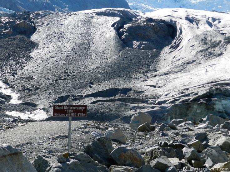 Morteratschgletscher Schweiz Gletscherzunge schmelzen