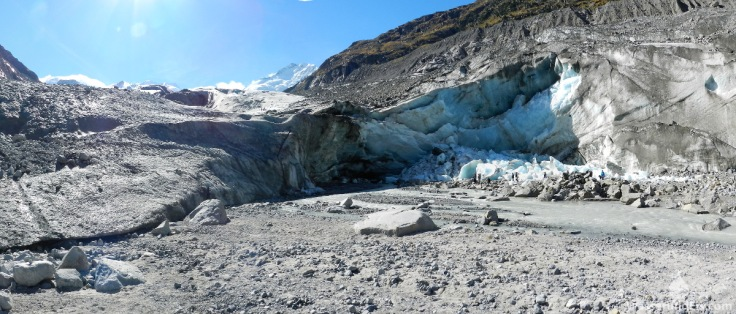 Morteratschgletscher Eisrand Gletscherzunge Gletschertor