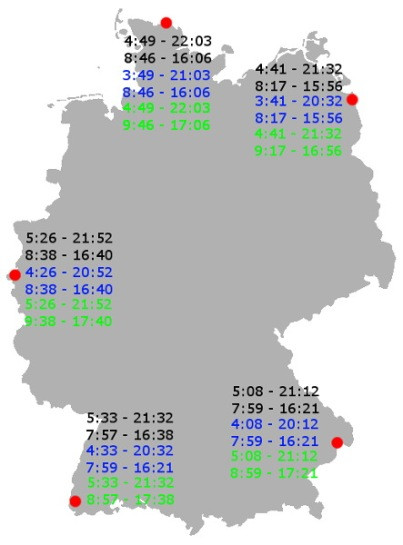 Zeitumstellung in Deutschland.