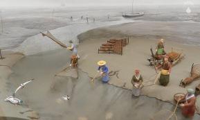 Diorama im Museum für Wattenfischerei in Wremen.