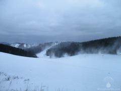 Beschneiung in der Büre bei Winterberg