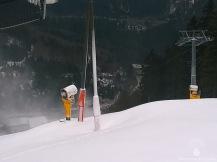 Slalomhang mit beachtlichen Schneehügeln, in Betrieb ab?