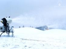 Beschneiung am Käppchenhang (15.12). Seit heute in Betrieb.