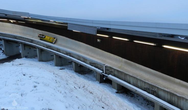 Schlitten Eisbahn Winterberg