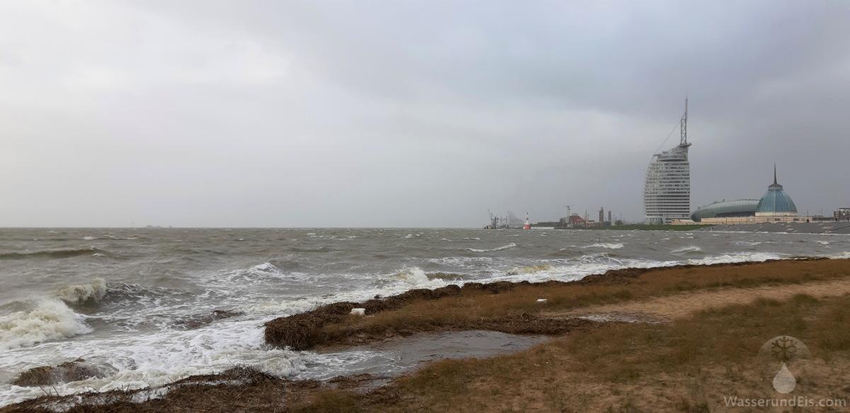 #Sturmflut Benjamin Weserstrandbad