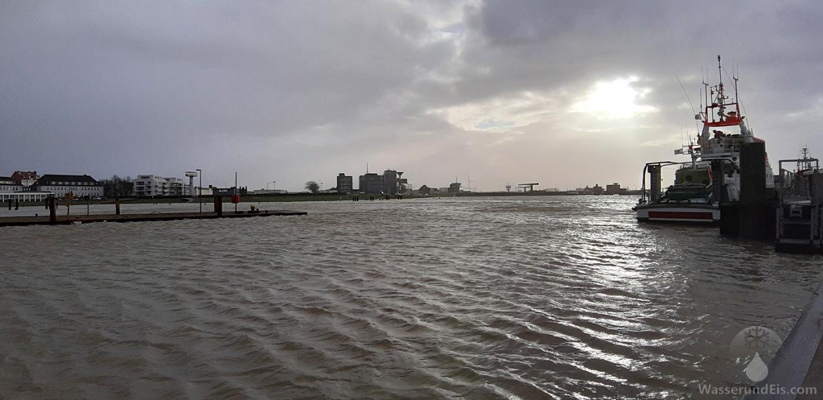 #Geestevorhafen Land Unter