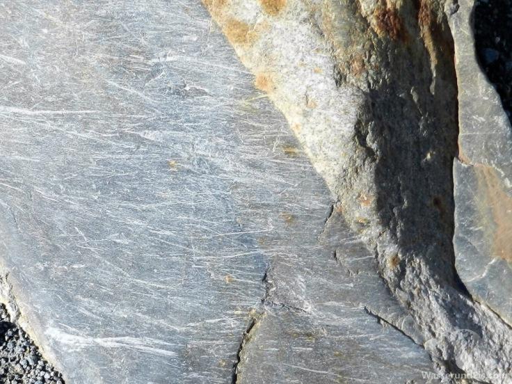 Kratzspuren Gletscher Schweiz