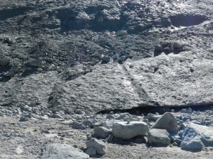 Geröll Dreck Morteratschgletscher Schweiz Alpen