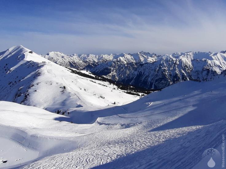 Pisten Skifahren Kanzelwand Zweiländerbahn
