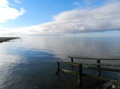Zugang zur Nordsee am Strand von Cappel-Neufeld.