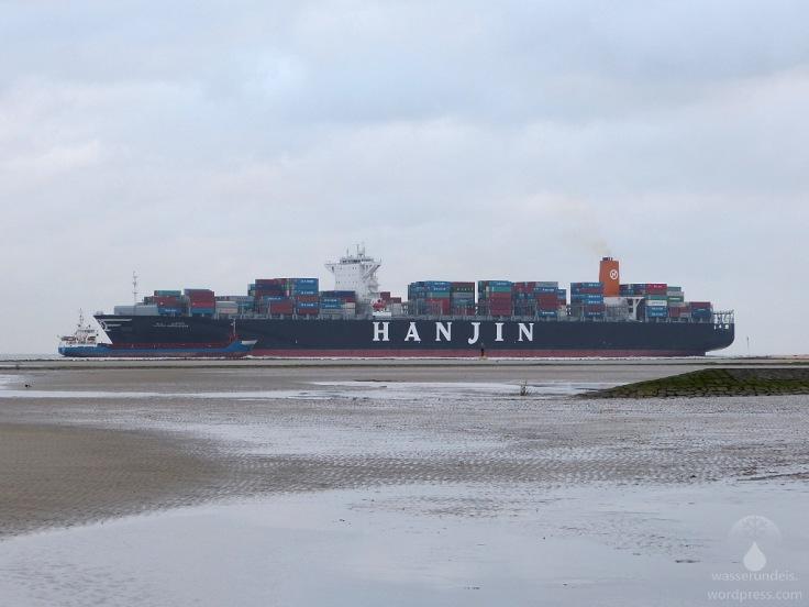 Kugelbake Cuxhaven Schiffe