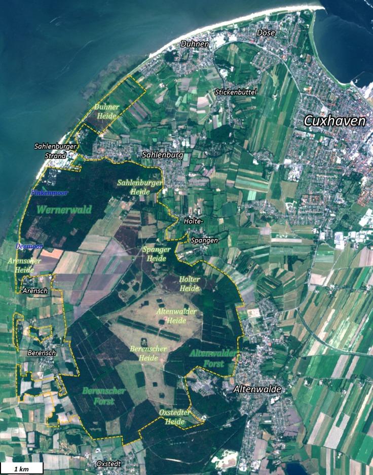 Karte Cuxhavener Küstenheide Wernerwald