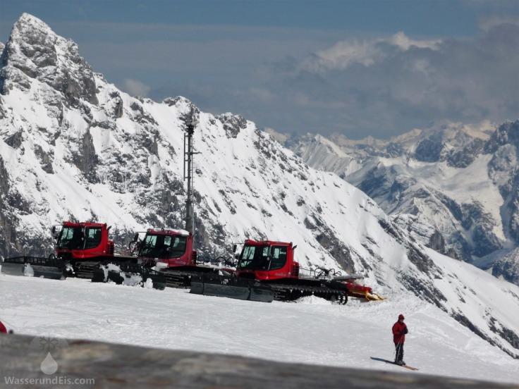 Pistenbullys Zugspitze Skigebiet