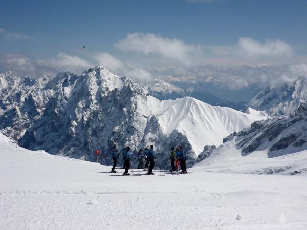 Zugspitze Skigebiet Gletscherskigebiet