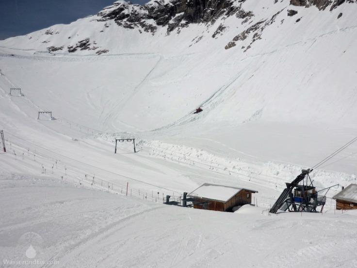 Schneeverschiebung Zugspitzplatt Zugspitzgletscher