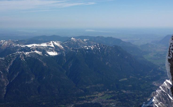 Ausblick Zugspitze Norden Alpenvorland