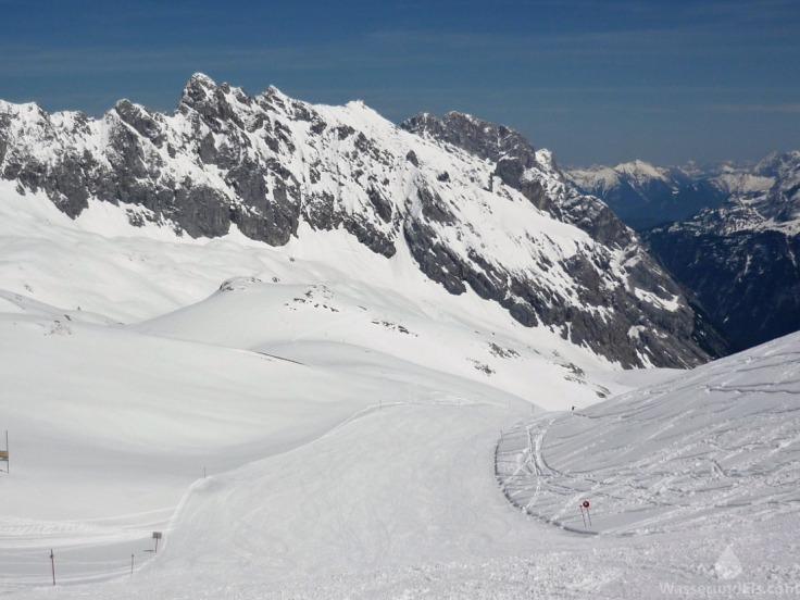 Zugspitze Super-G Abfahrt Skigebiet