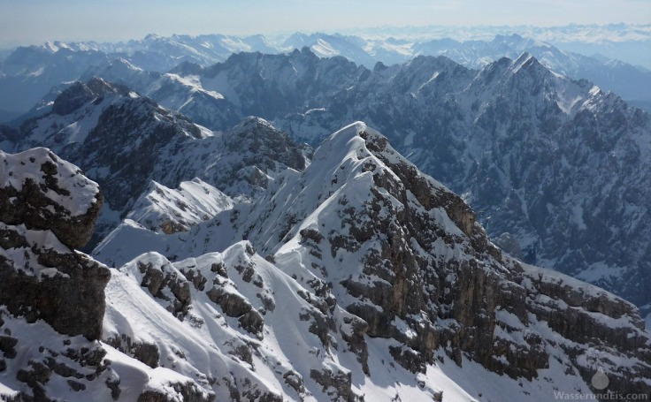 Aussicht Zugspitze Alpen