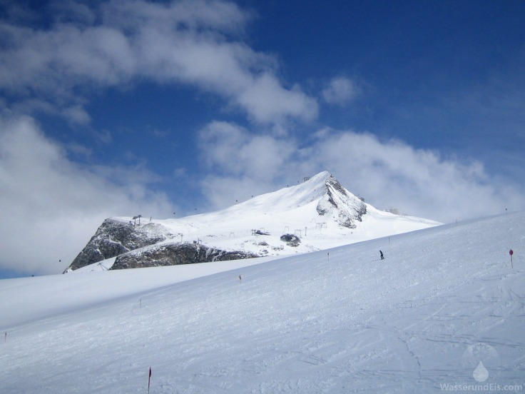 Gefrorene Wand Gletscher Alpen