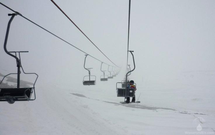 Nebel Hintertuxer Gletscher.