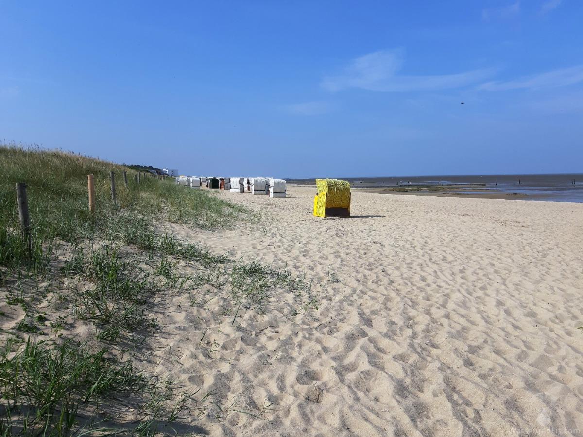 Cuxhaven: Strandimpressionen aus Sahlenburg – Wasser und Eis