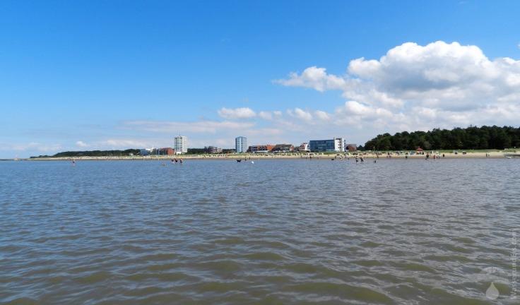 Flut Ebbe Sahlenburger Strand Cuxhaven